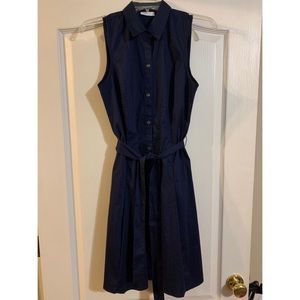 New York and Company Navy Stretch Dress with Belt